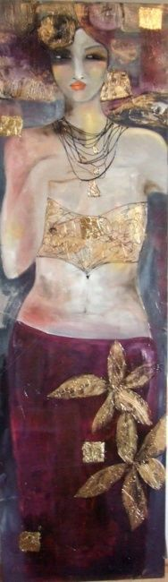 Gabrielle (Peinture), 38x122 cm par audrey marienkoff Technique