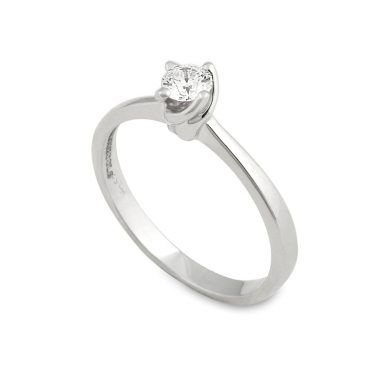 DIAMONDJOOLS μονόπετρο δαχτυλίδι λευκόχρυσο Κ18 με διαμάντι  9702fc5368c