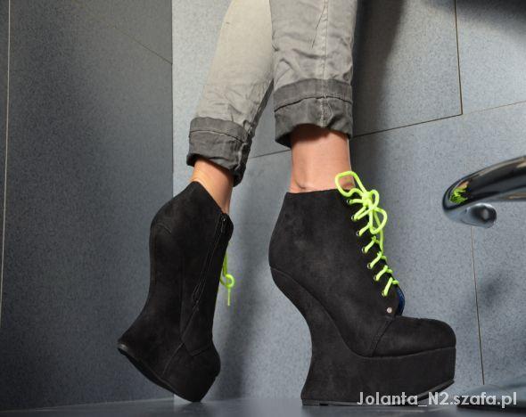 Botki Damskie W Szafa Pl Botki Zamszowe Na Obcasie Zimowe Ankle Boot Shoes Boots
