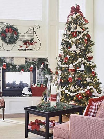 Decorating Living Room Entertainment Center Ideas Free Christmas Decoration Ideas Round Storage Coffee Table 400x Ide Dekorasi Natal Pohon Natal Dekorasi Pohon