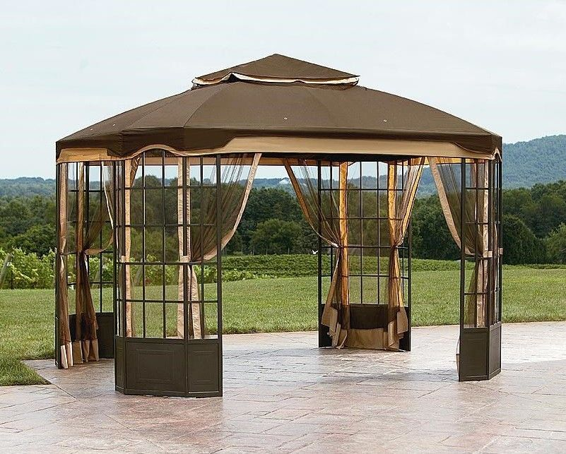 Garden Oasis Bay Window Gazebo Patio Deck Poolside Furniture Sun ...