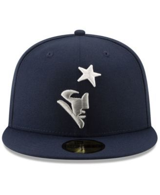 new arrival 56e58 04a69 New Era New England Patriots Logo Elements Collection 59FIFTY Fitted Cap -  Blue 7 3 8