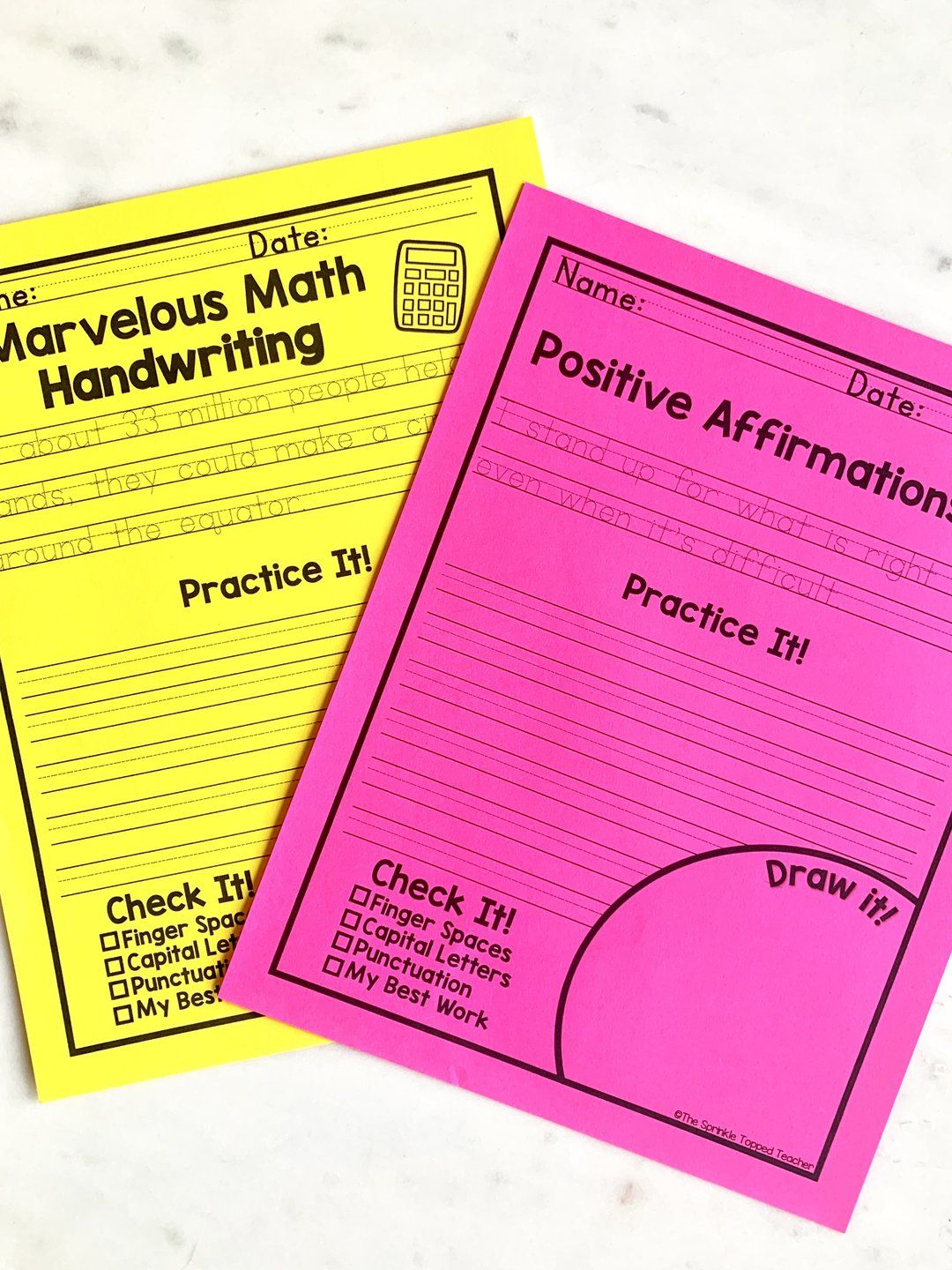 Year Long Handwriting Worksheets For Older Students