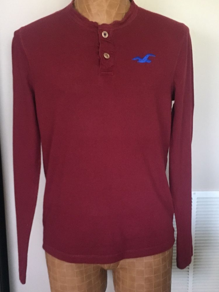 edb04f7b538 Mens Hollister Long Sleeve Shirt Maroon Color Size Large 100% Cotton. # fashion #clothing #shoes #accessories #mensclothing #shirts (ebay link)
