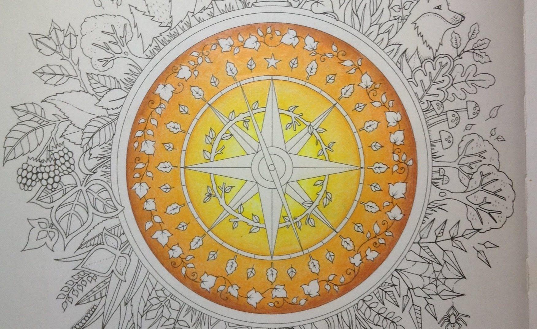 ENCHANTED FOREST Johanna Basford - color tutorial part 1
