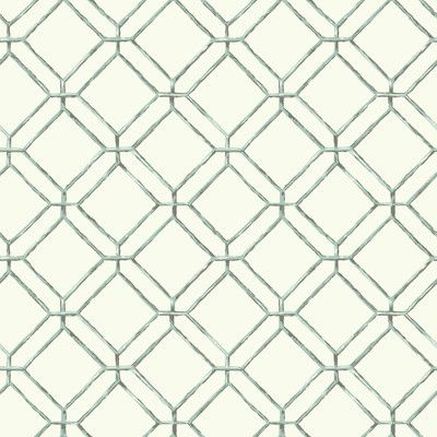 "York Wallcoverings Ashford Tropics 33' x 20.5"" Geometric 3D Embossed Wallpaper Color: White, Light Aqua, Dark Grey"