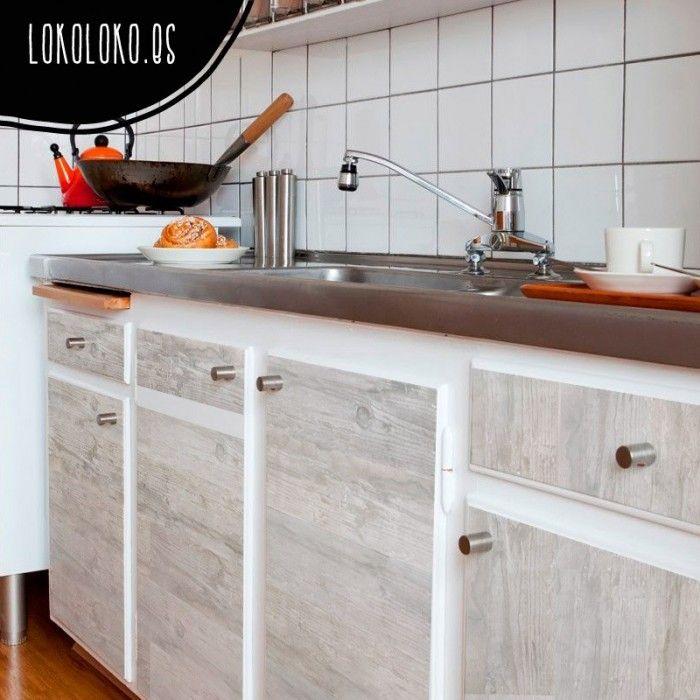 Madera Clara Vintage | Vinilos para muebles de cocinas | Pinterest ...