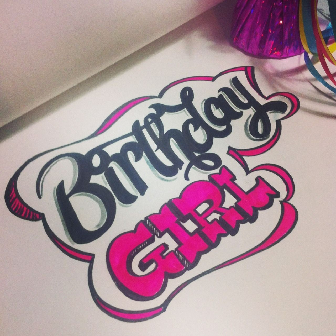 Birthday girl thats me lettering letteringdaily type doodle birthday girl thats me lettering letteringdaily type doodle handdrawn voltagebd Choice Image