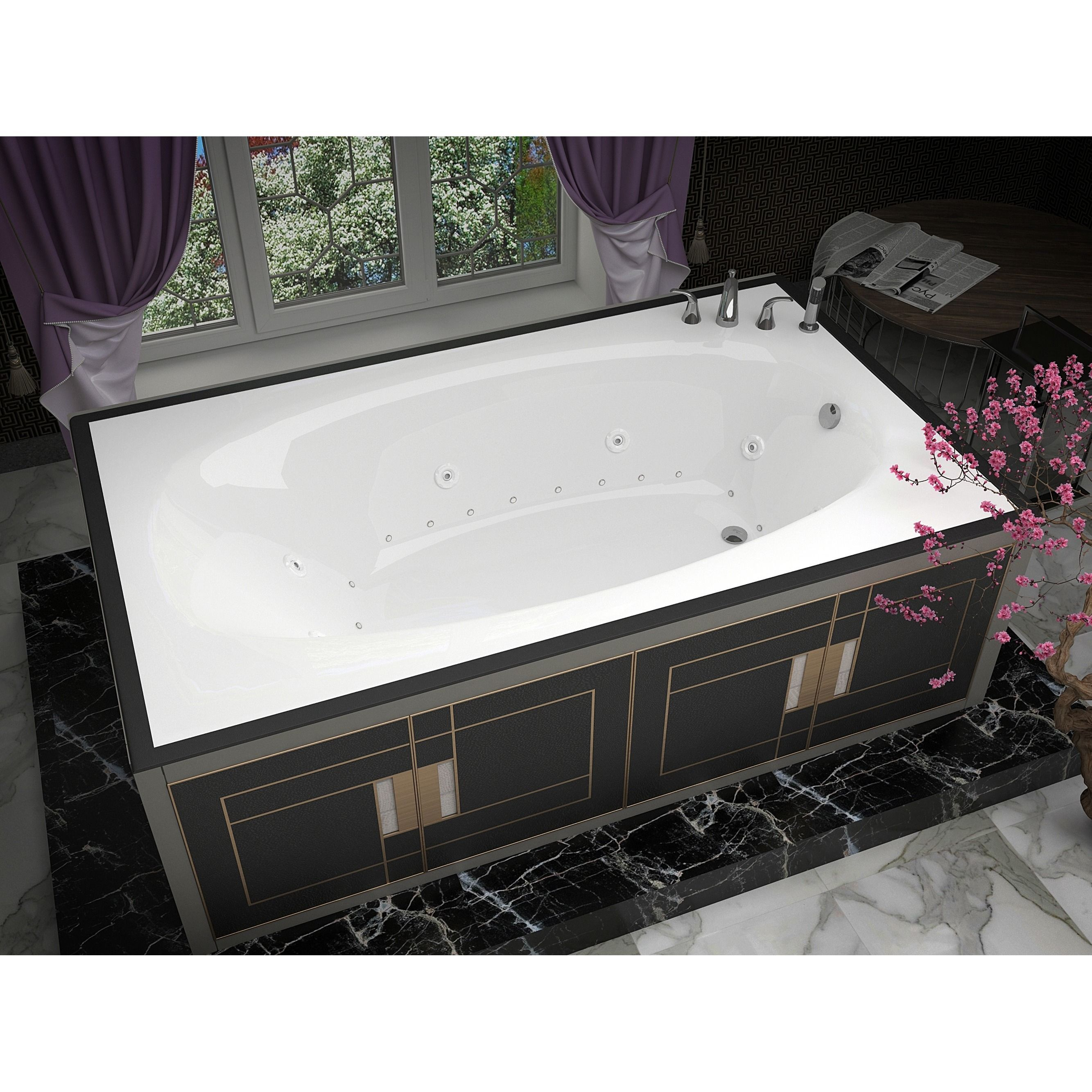 Mountain Home Ouray 42x66-inch Acrylic Air and Whirlpool Jetted Drop ...