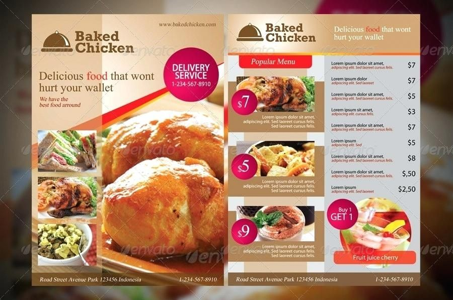 Restaurant Brochure Templates Restaurant Menu Flyer Templates