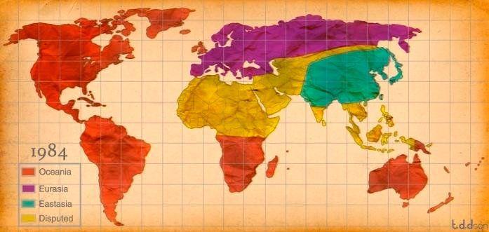 1984 world map | 1984 | World, Warfare, Map