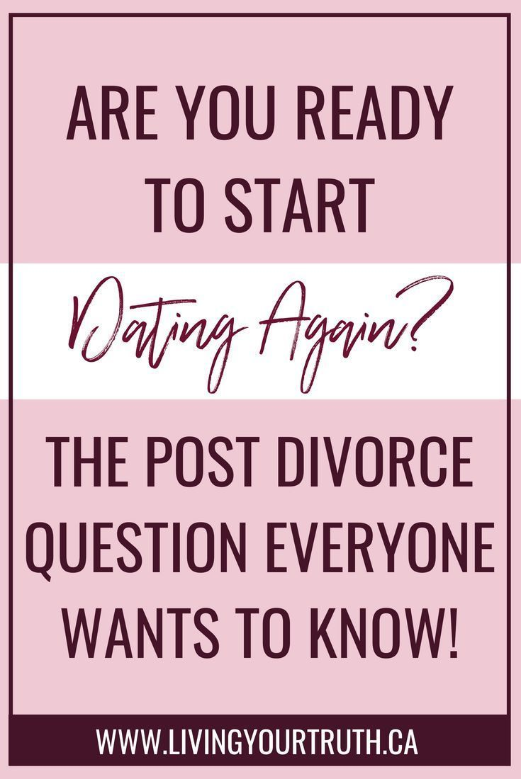 Post divorce dating tips