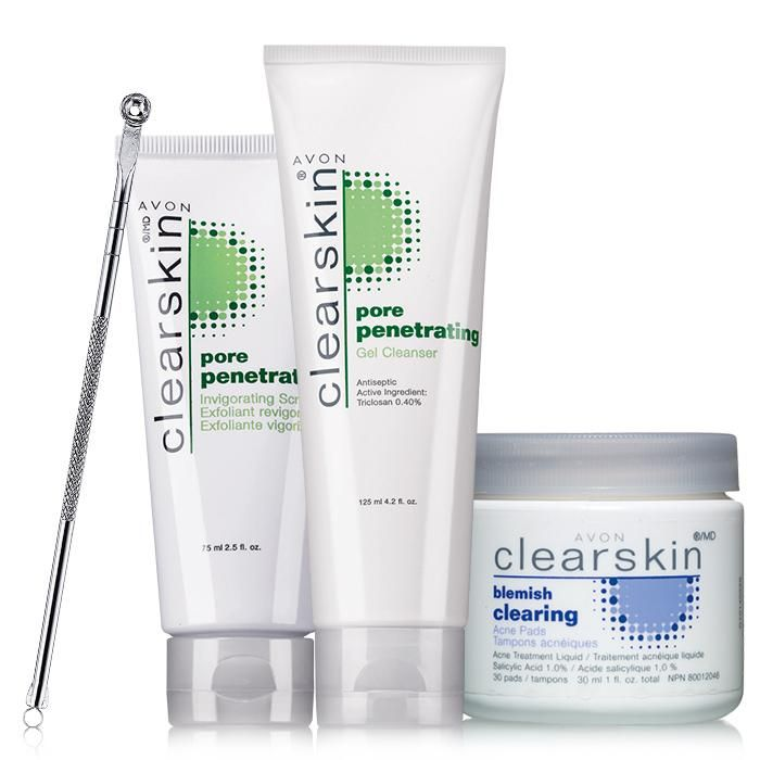 avon clearskin facial cleansing scrub