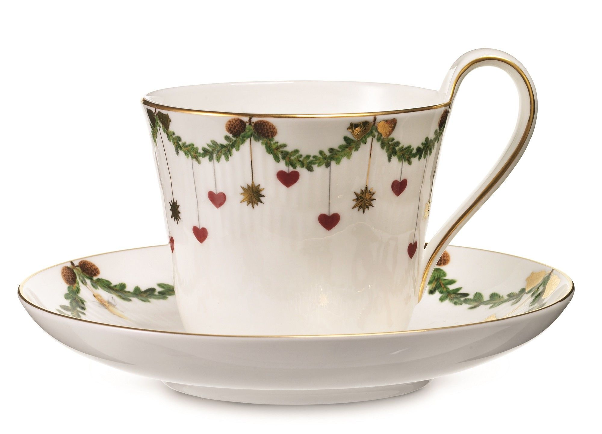 Star Fluted High Handle Cup and Saucer