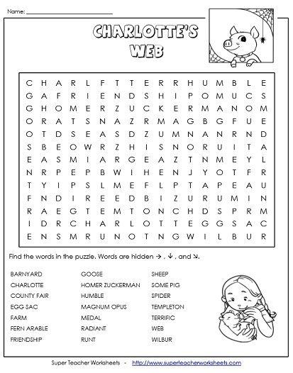 Charlottes web worksheets