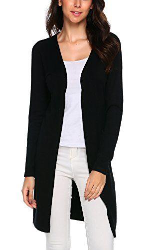 872638b381c0c6 Zeagoo Women s Casual Long Sleeve Open Front Soft Knit Cardigan Sweater -  https