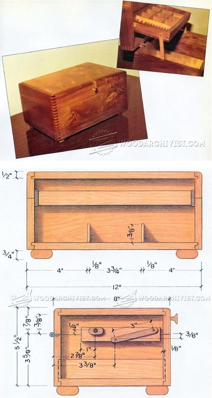 Wood Magazine Jewelry Box Plans : magazine, jewelry, plans, Wooden, Jewelry, Plans, Woodworking, Projects, WoodArchivist.com, Beginner,, Plans,