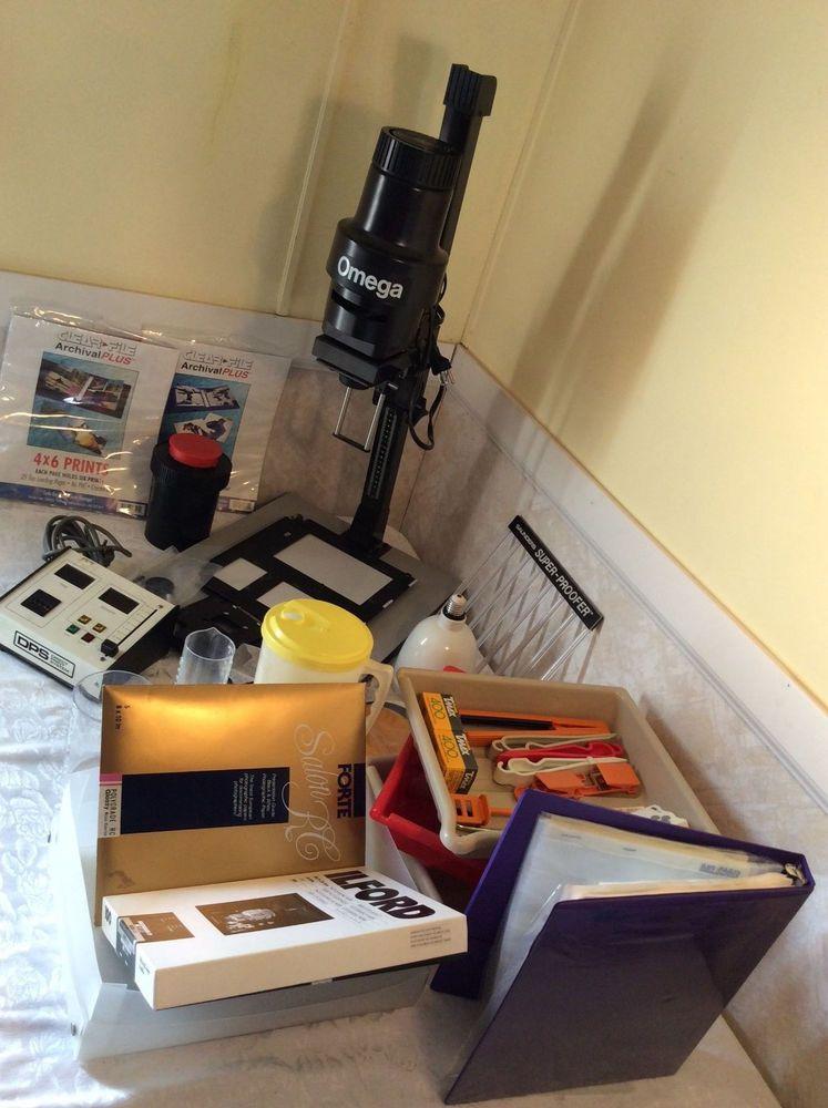 Omega Enlarger Model C700, Photo Paper, Timer, Easel,Other Dark Room