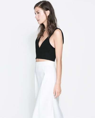 dd42f6738ed80 Image 2 of CROPPED TOP WITH ZIP from Zara