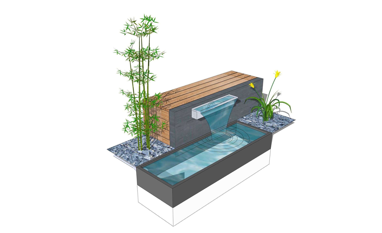 Moderne gartengestaltung mit wasserbecken wasserbecken eine verl garten und bauen