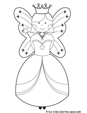 Printable Cute Fairy Coloring Pages For Girls Fairy Coloring