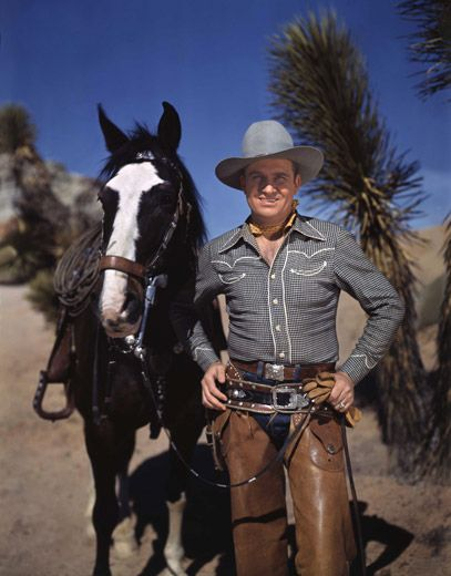 Singing Cowboy Gene Autry and Champion