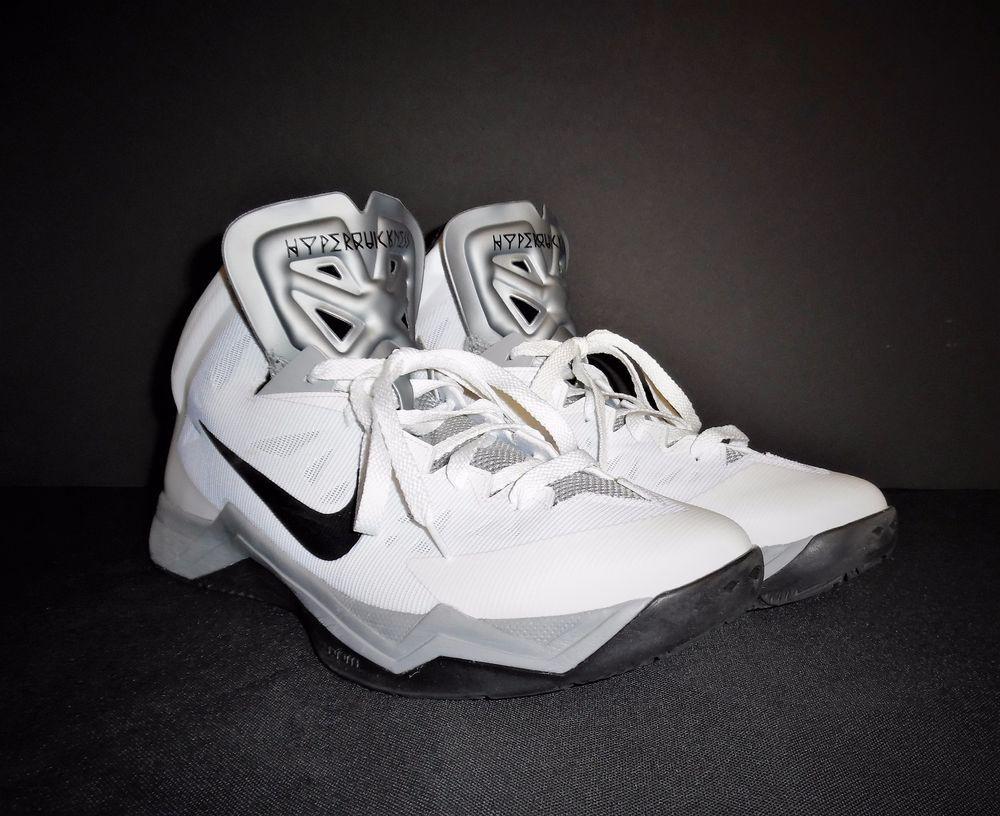 NIKE 599421-100 HYPER QUICKNESS MEN S WHITE BASKETBALL SHOES US 12 UK 11  EUR 46  Nike  BasketballShoes a894903ef