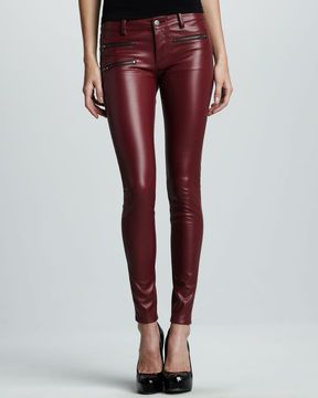 ac0497fb835cc8 Parker in 2019   fashion   Faux leather pants, Leather Pants, Red ...
