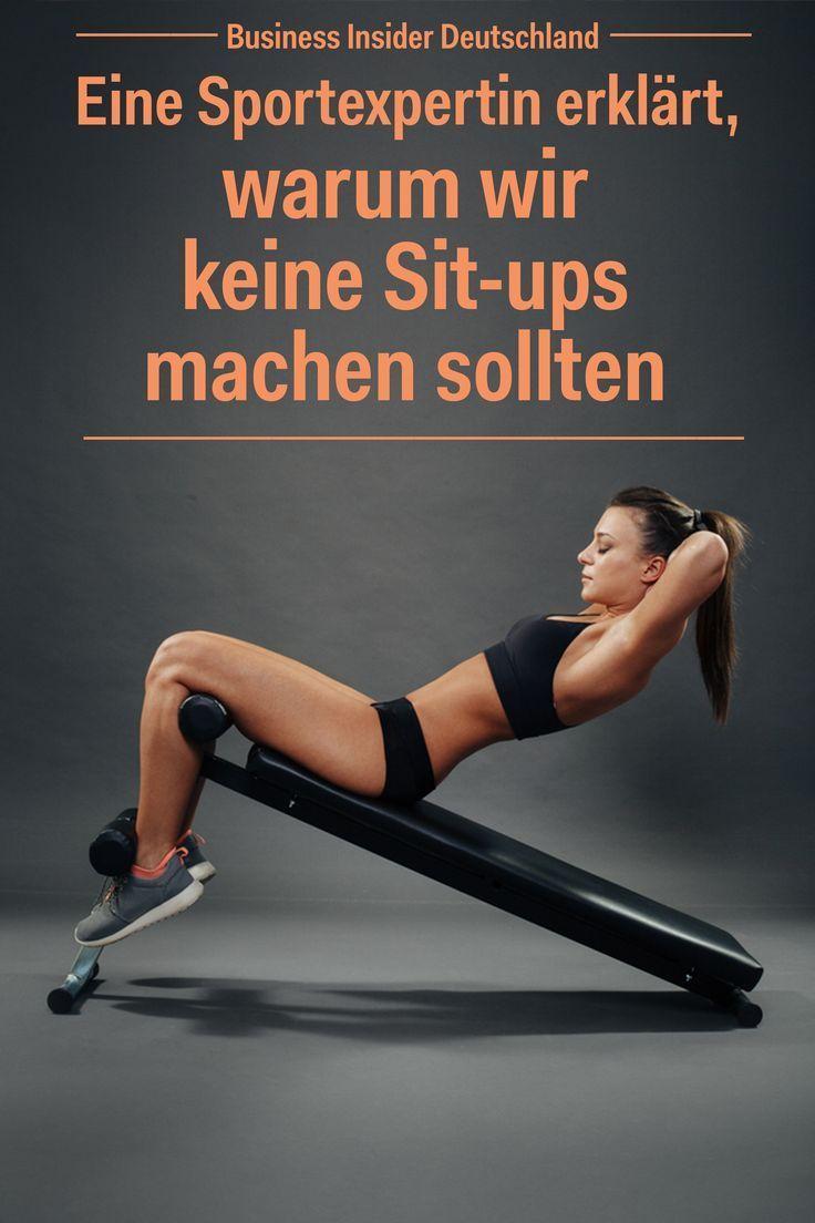 Sit-ups sind DIE Übung, die einem in den Sinn kommt, wenn man eine Wohnung hat ...   - Fitness - #de...