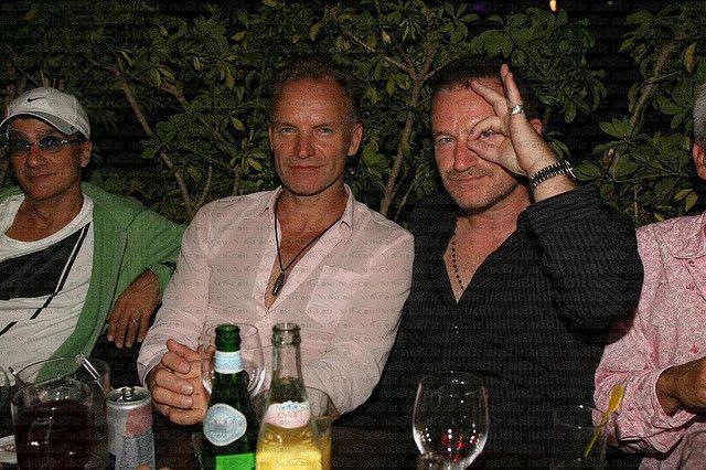 Sting And Bono Bono John Lennon Yoko Ono John Lennon And Yoko