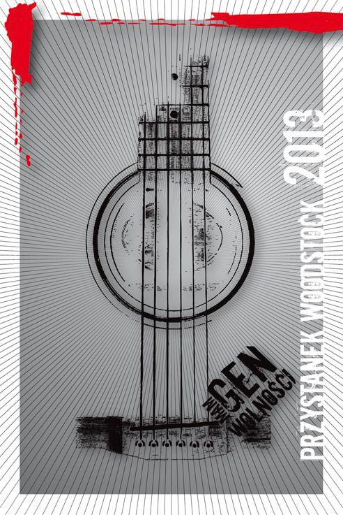 Przystanek Woodstock. Limitowana seria pocztówek kampanii Mam Gen Wolności. Projekt: Studio Zakład, www.zaklad.pl