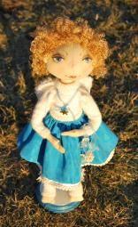 Текстильная кукла - снежный ангел Полина
