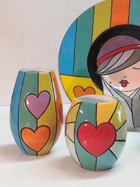 ceramica come mestiere: Piatti da parete in ceramica cuerda seca. Donna con cappello. #tazasceramica
