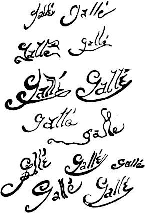 A Selection Of Original Galle Signatures There Are So Many
