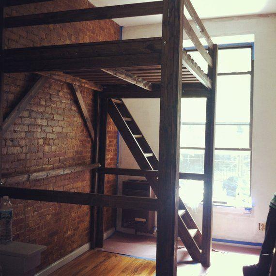 68 Best Images About Loft Beds On Pinterest: Queen / Full Loft Bed W/ Side Ladder/ Custom Adjusted