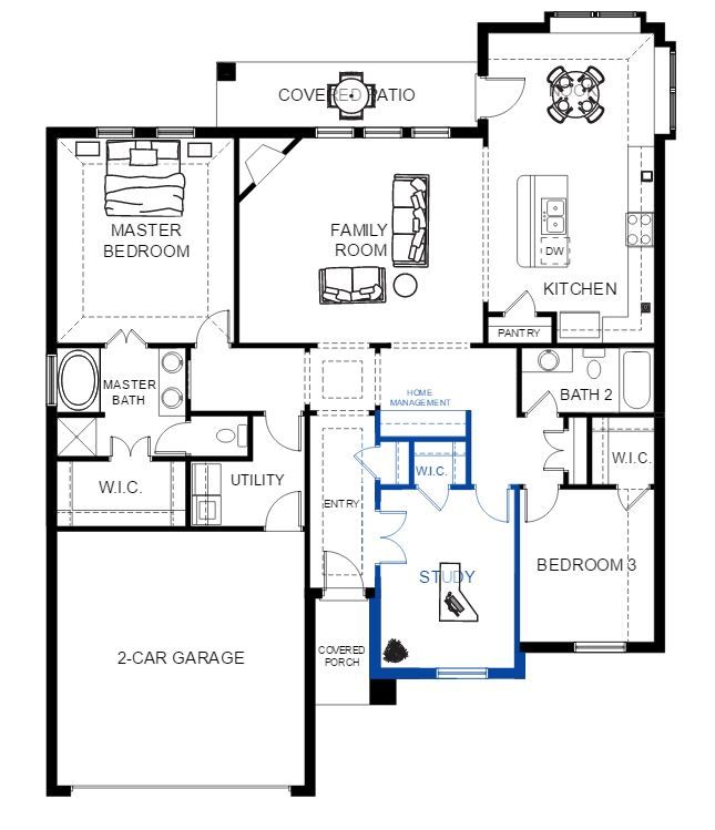 Enjoy Our Interactive Floor Plans Personalize Your Home And Furniture Layout View The Waterford In Park Trails Today Floor Plans Furniture Layout How To Plan
