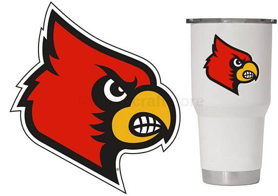 Louisville Cardinals Premium Vinyl Decal For Phone Yeti Louisville Cardinals Football Louisville Cardinals Cardinals Football