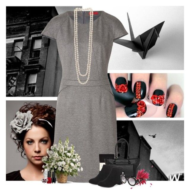"""bit of a break..."" by tifffanyh ❤ liked on Polyvore featuring HUGO, Kenneth Jay Lane, Falke, Emporio Armani, OPI, China Glaze, Jane Tran, Lulu Guinness, M&S and Prada"