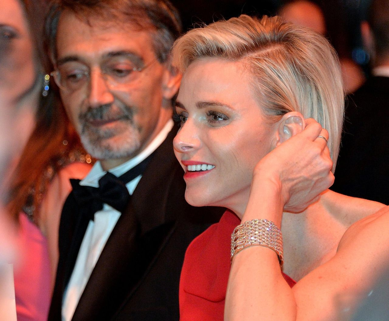 Princess Charlene Wearing Cartier Maillon Panth 232 Re Cuff