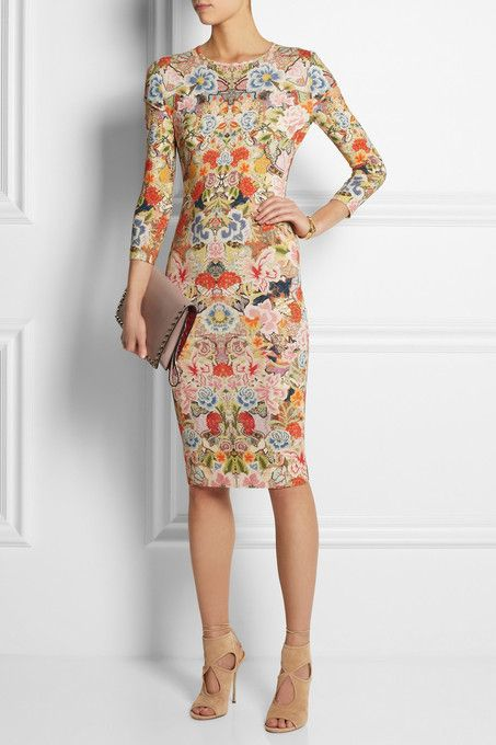 Floral print stretch-jersey  dress by Alexander McQueen.  prints  spring   summer  fashion f1c181390fb