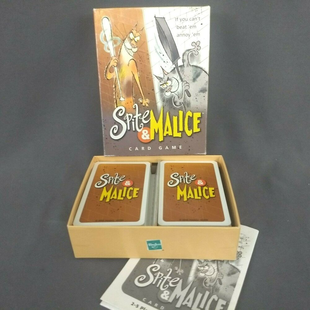 Spite and Malice Card Game Parker Brothers 2002 Complete