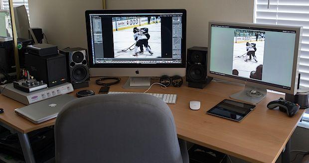 Mac Setups Workstation Of A Professional Videographer