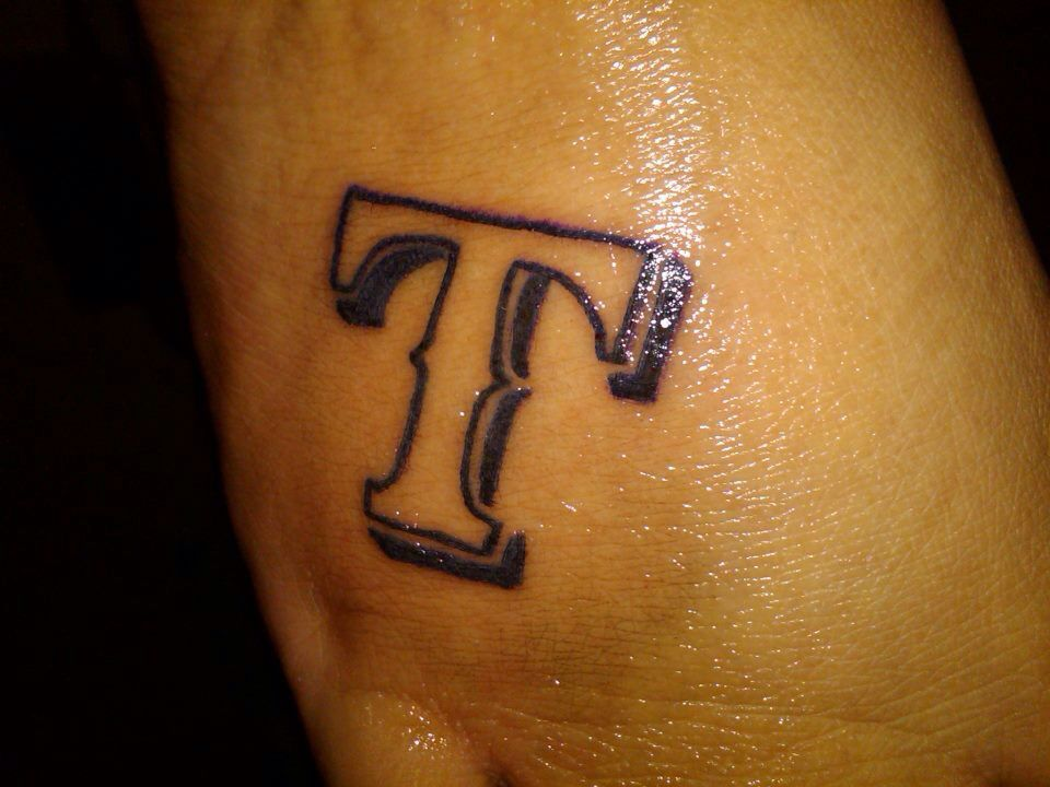 My First Tattoo I Had To Represent My Favorite Teamtexas Rangers