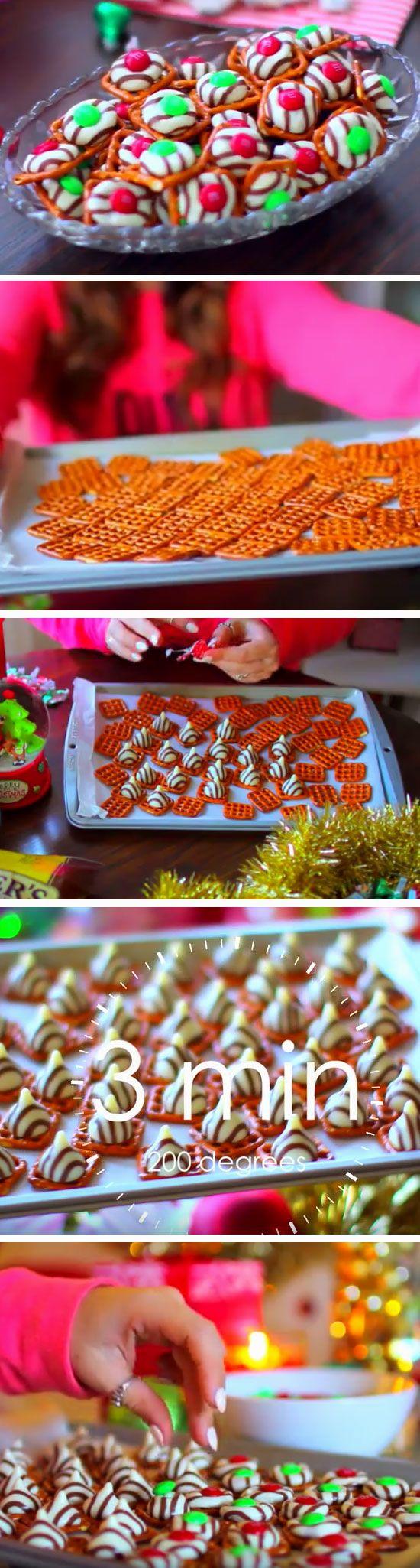 pretzel hugs 20 easy christmas treats for school parties