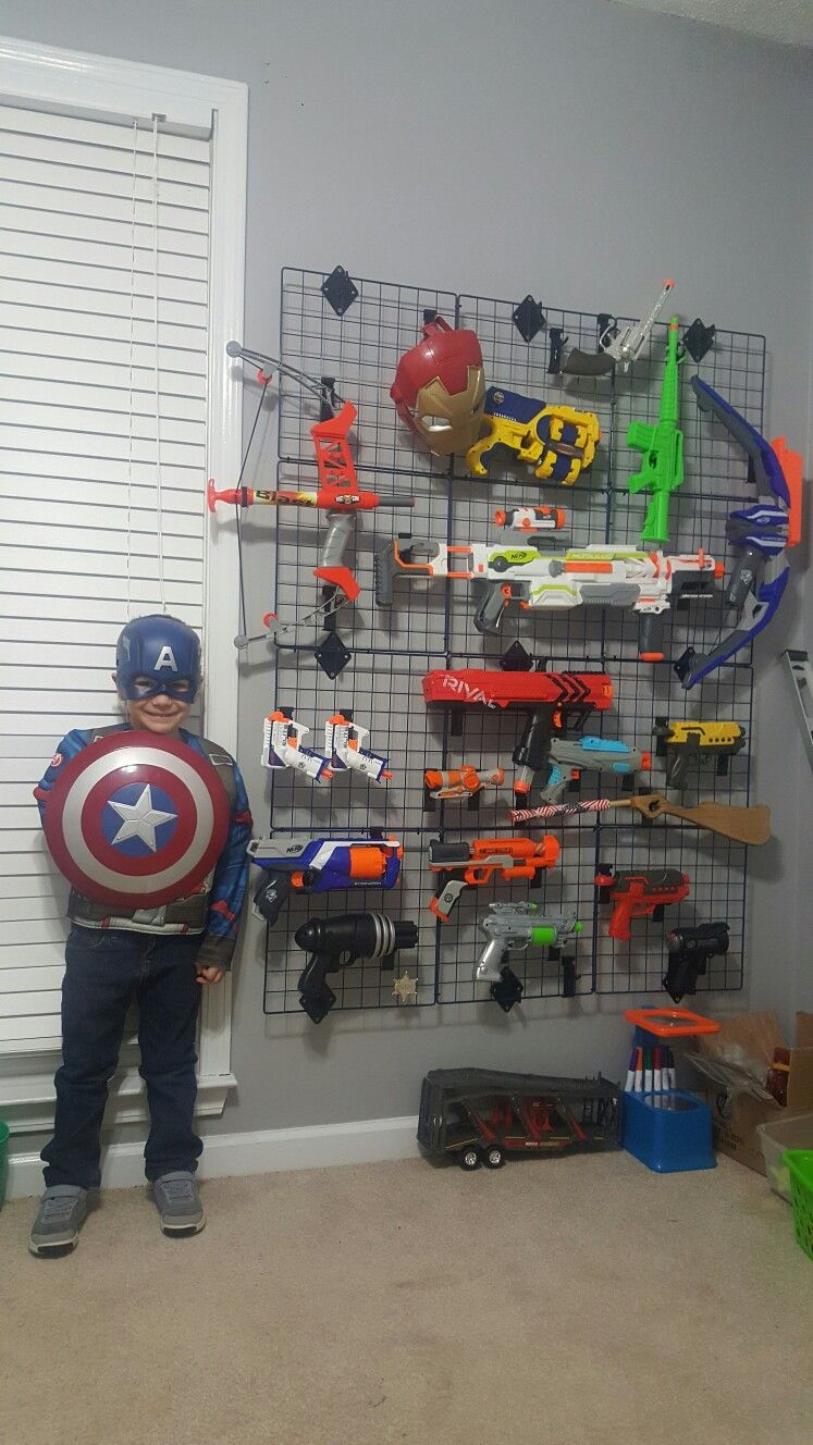 10 Types Of Toy Organizers For Kids Bedrooms And Playrooms: Nerf Gun Storage For Ashtons Playroom!