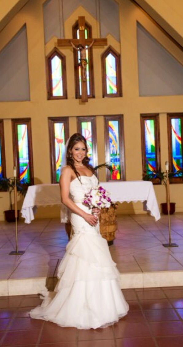 Our Wedding At Sacred Hearts Mission Church In Kapalua Maui Bride Destination