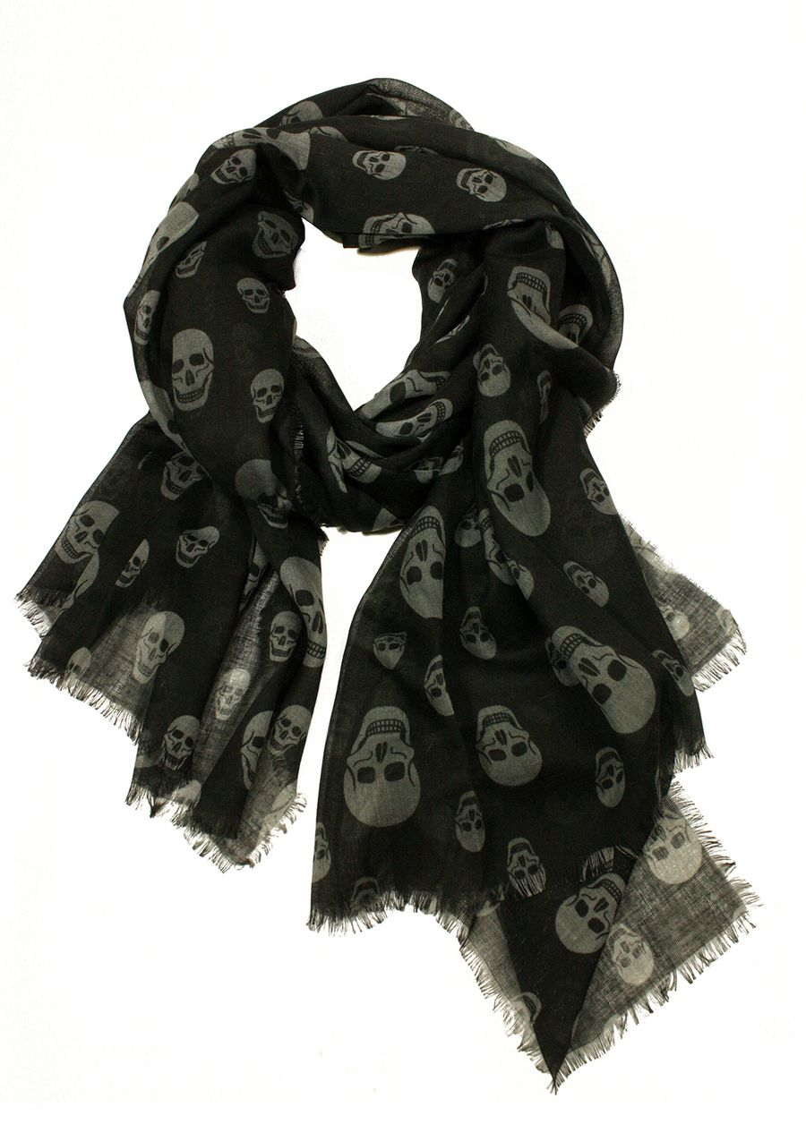 Perfect fall accessory   PRINTED VILLAGE Skull Scarf #travelessentials