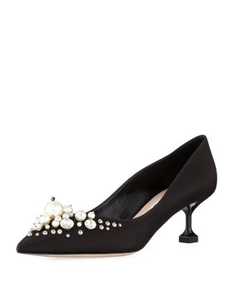 d2da67cae1b Satin+Pearlescent+55mm+Pump+by+Miu+Miu+at+Neiman+Marcus.