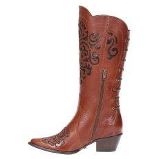 Bota Feminina Texana Cano Longo West Country Marrom 20019  4f721d30a12