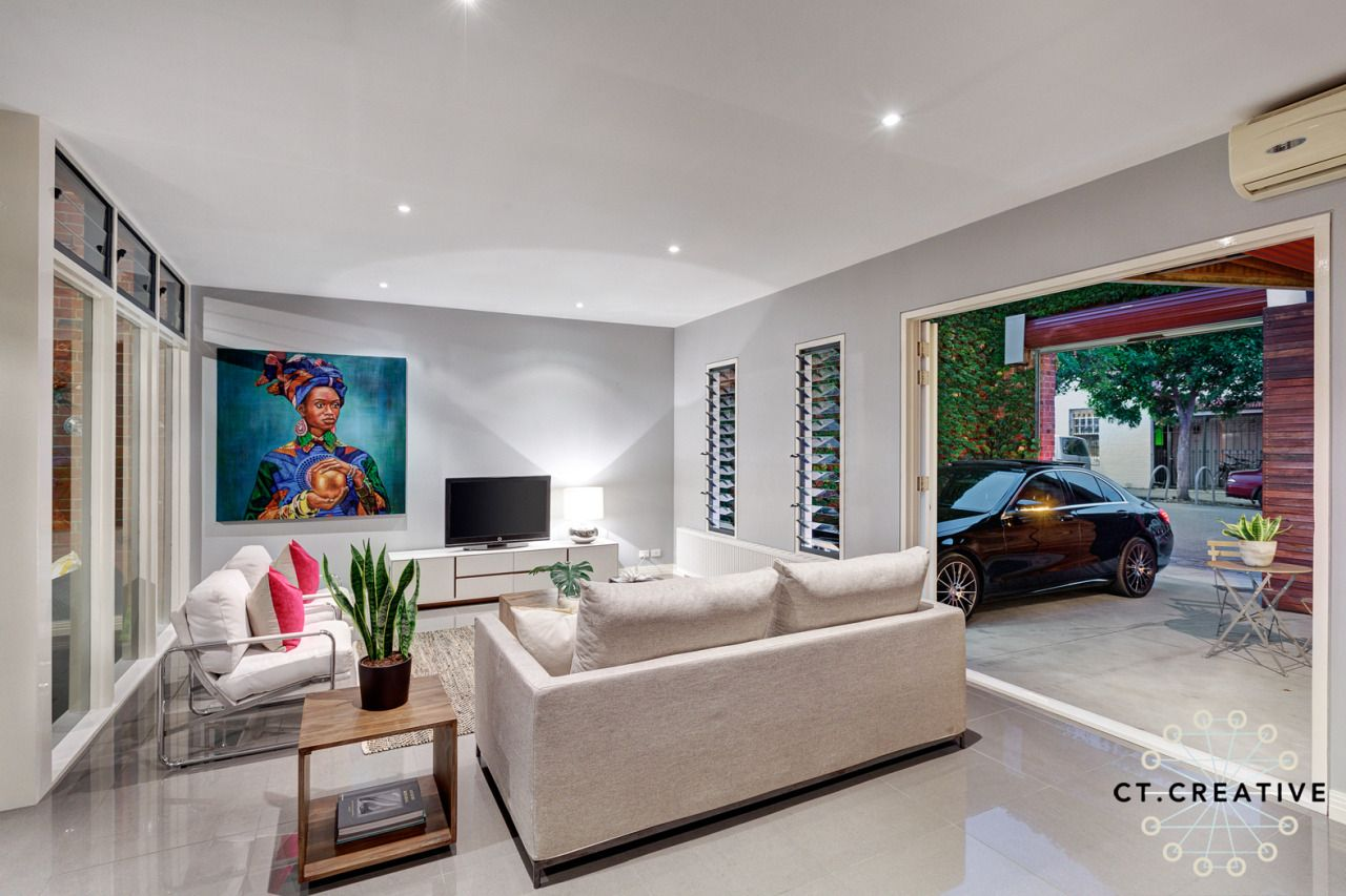 Love this modern lounge room.  Photography by CT Creative.